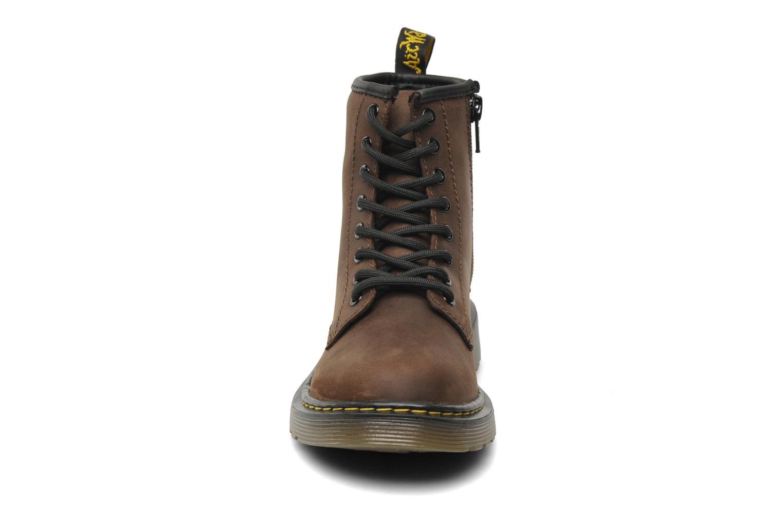 Bottines et boots Dr. Martens Delaney Junior Marron vue portées chaussures