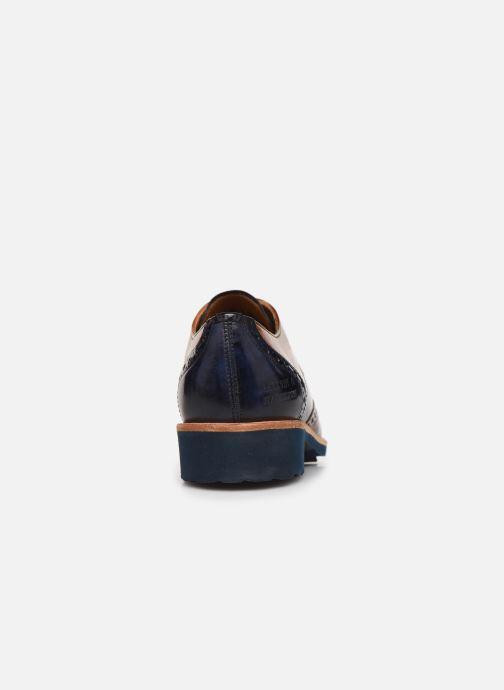 Zapatos con cordones Melvin & Hamilton Amelie 3 Azul vista lateral derecha