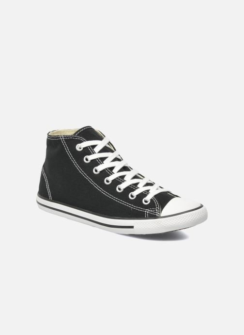 separation shoes b8109 ba5e9 Baskets Converse All Star Dainty Canvas Mid W Noir vue détail paire