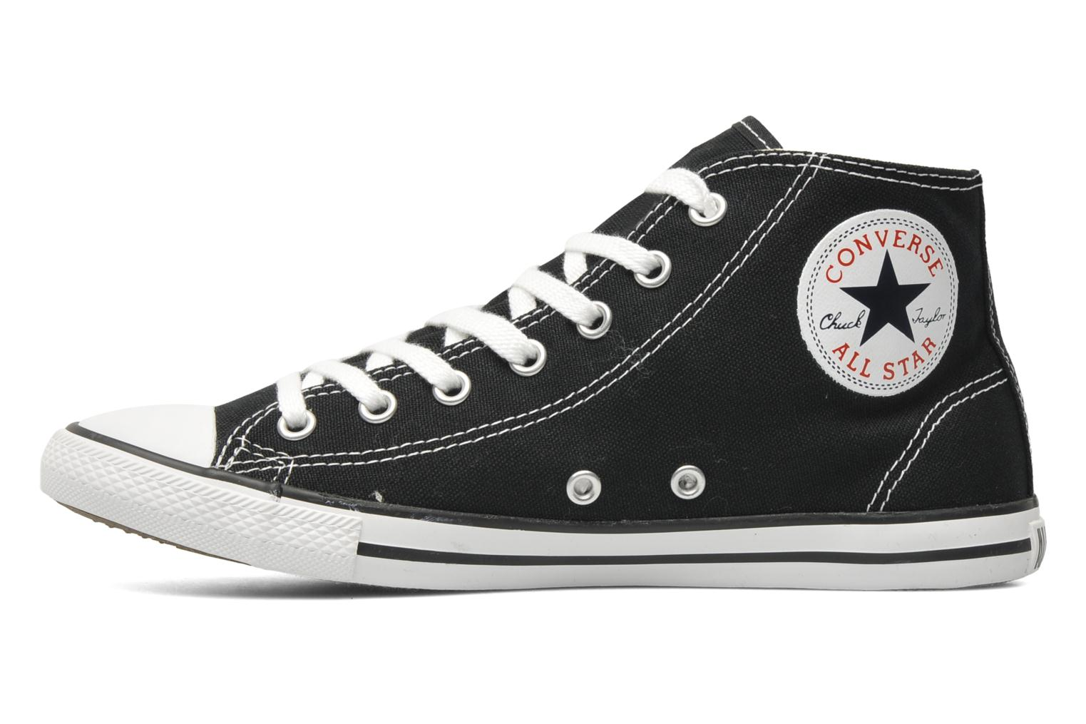 Sneakers Converse All Star Dainty Canvas Mid W Zwart voorkant