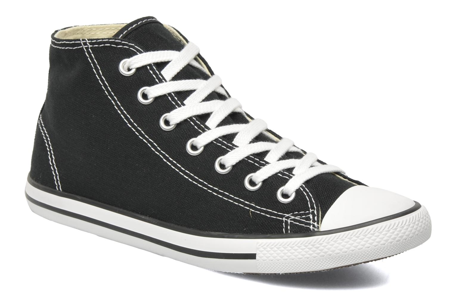 Baskets Converse All Star Dainty Canvas Mid W Noir vue détail/paire