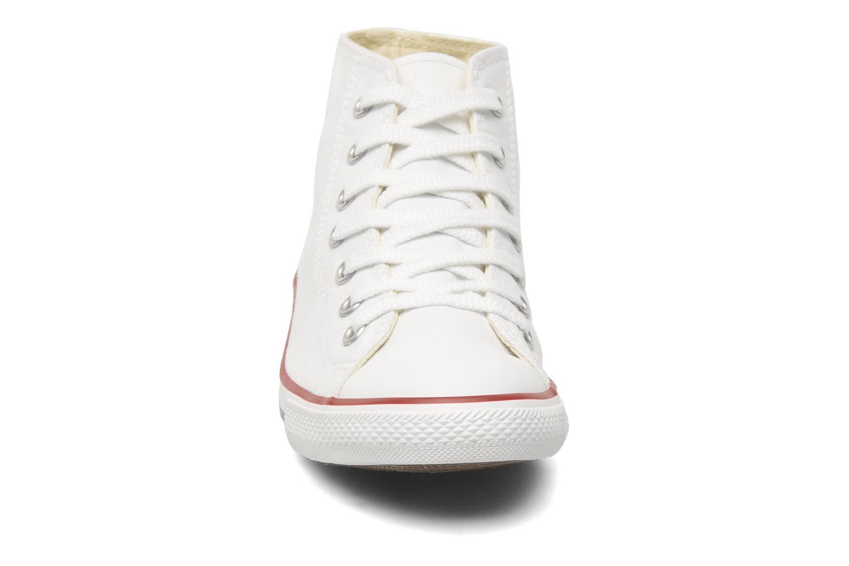 Deportivas Converse All Star Dainty Canvas Mid W Blanco vista del modelo