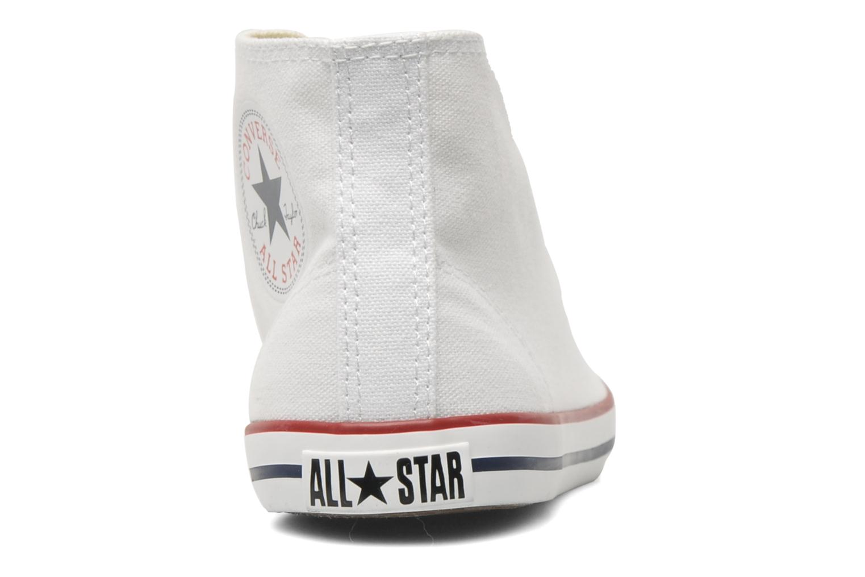 Deportivas Converse All Star Dainty Canvas Mid W Blanco vista lateral derecha