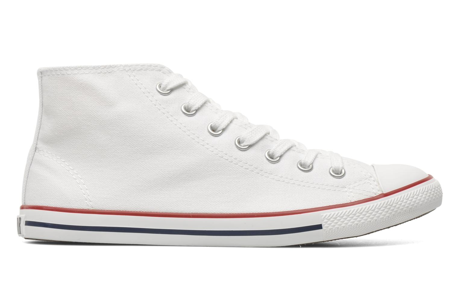 Baskets Converse All Star Dainty Canvas Mid W Blanc vue derrière