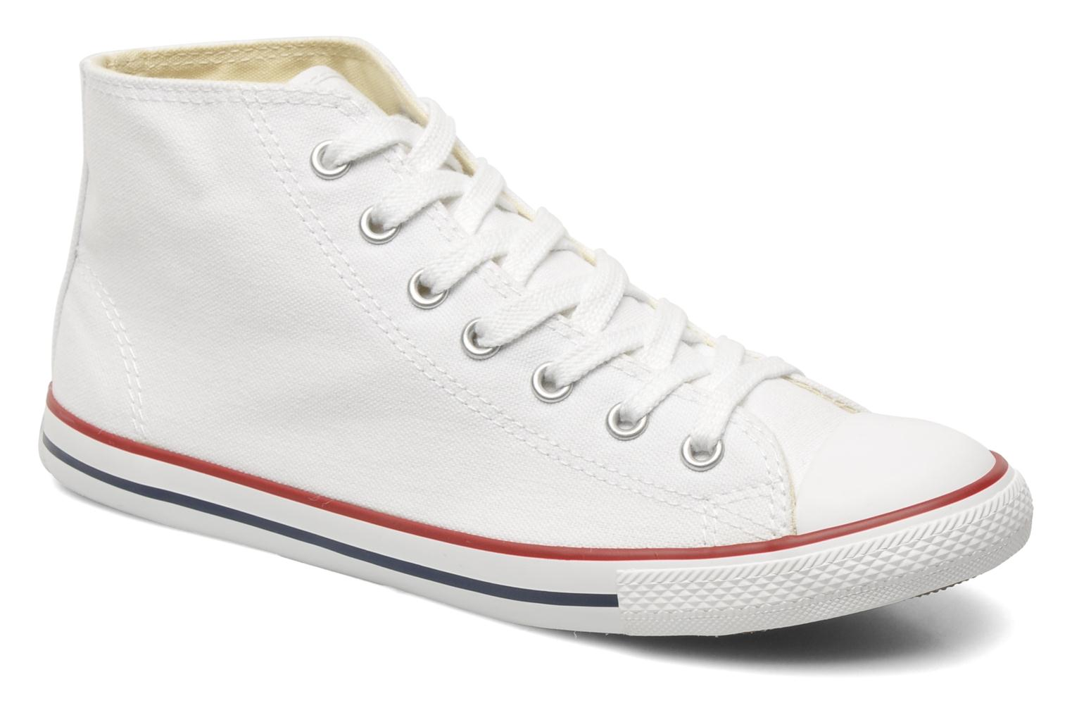 Baskets Converse All Star Dainty Canvas Mid W Blanc vue détail/paire
