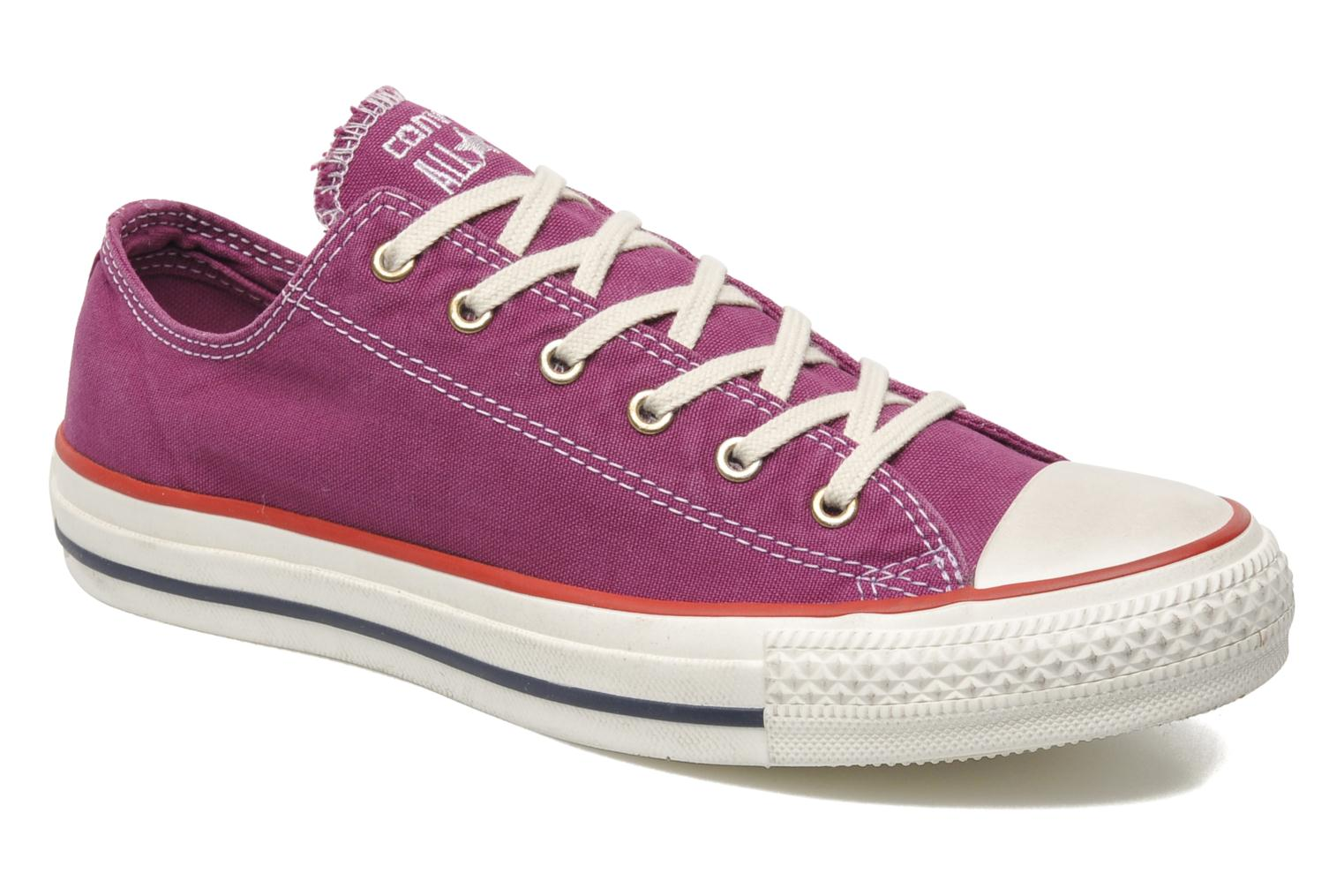 Trainers Converse Chuck Taylor All Star Well Worn Ox W Pink detailed view/ Pair view