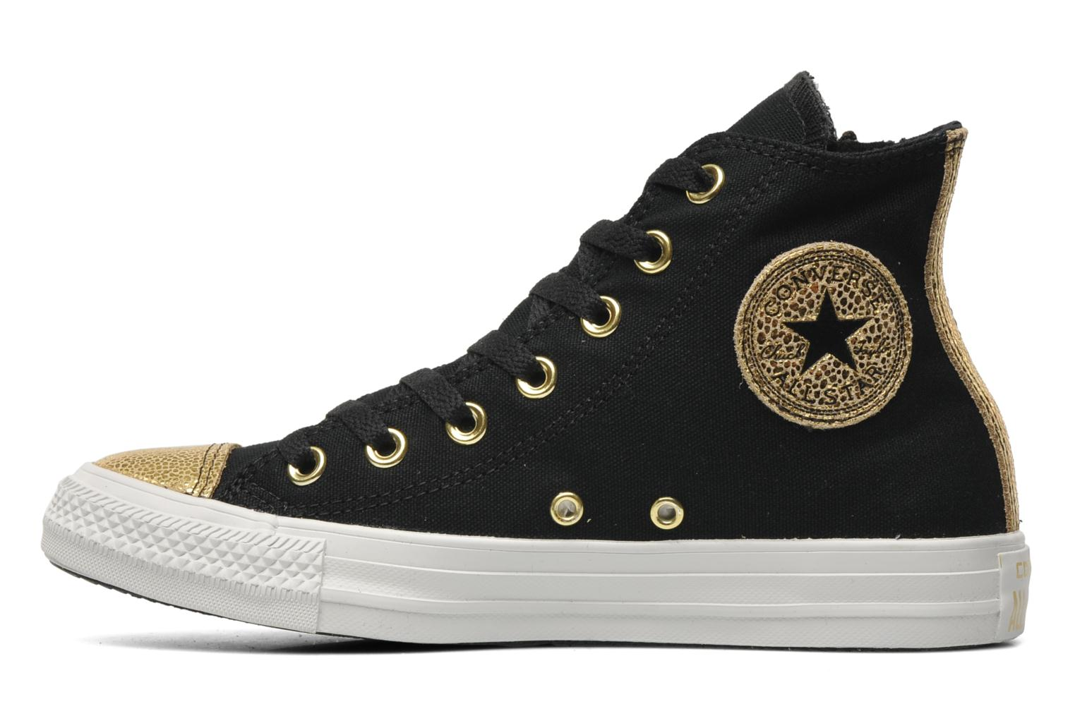 Sneakers Converse Chuck Taylor All Star Sparkle Hi W Zwart voorkant