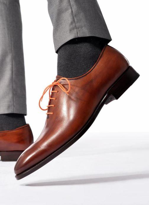 Zapatos con cordones Marvin&Co Luxe Wade - Cousu Goodyear Negro vista de abajo