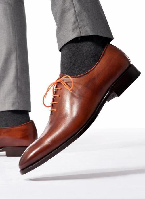 Schnürschuhe Marvin&Co Luxe Wade - Cousu Goodyear schwarz ansicht von unten / tasche getragen