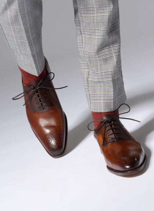 Chaussures à lacets Marvin&Co Luxe Walburg - Cousu Goodyear Marron vue bas / vue portée sac