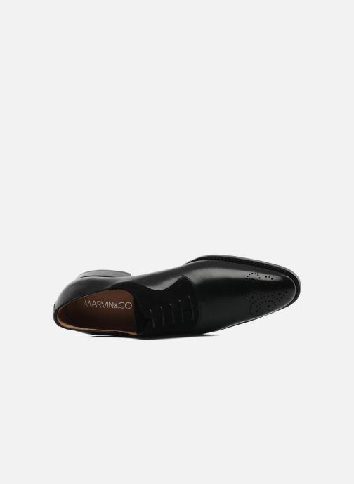 Zapatos con cordones Marvin&Co Luxe Walburg - Cousu Goodyear Negro vista lateral izquierda