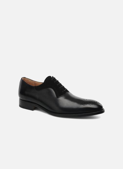 Snøresko Marvin&Co Luxe Walburg - Cousu Goodyear Sort detaljeret billede af skoene