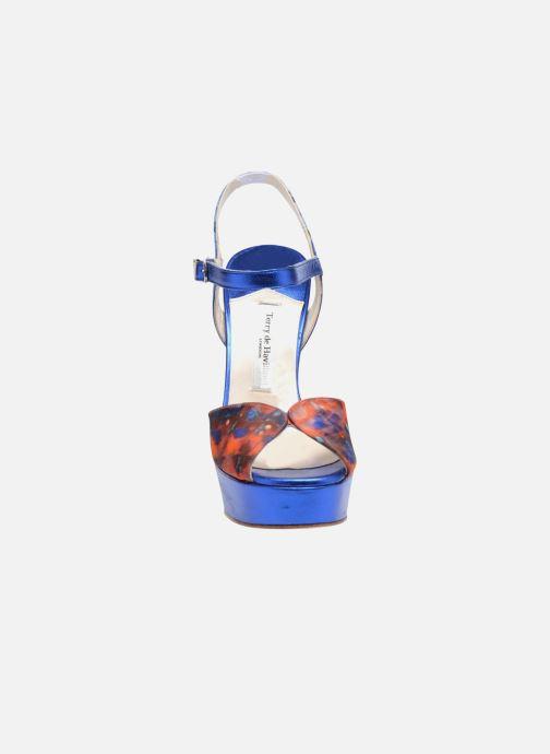 Sandales et nu-pieds Terry de Havilland Coco Bleu vue portées chaussures