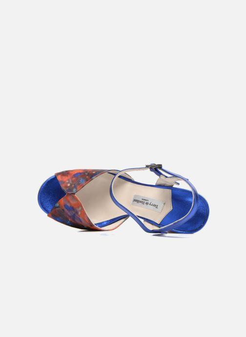 Sandales et nu-pieds Terry de Havilland Coco Bleu vue gauche