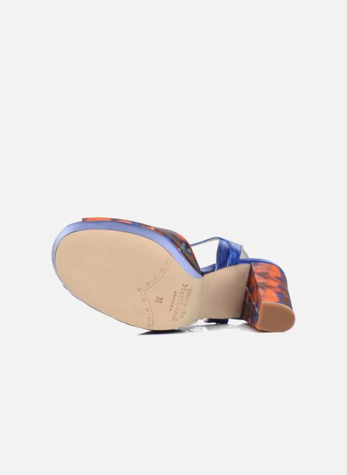 Sandales et nu-pieds Terry de Havilland Coco Bleu vue haut