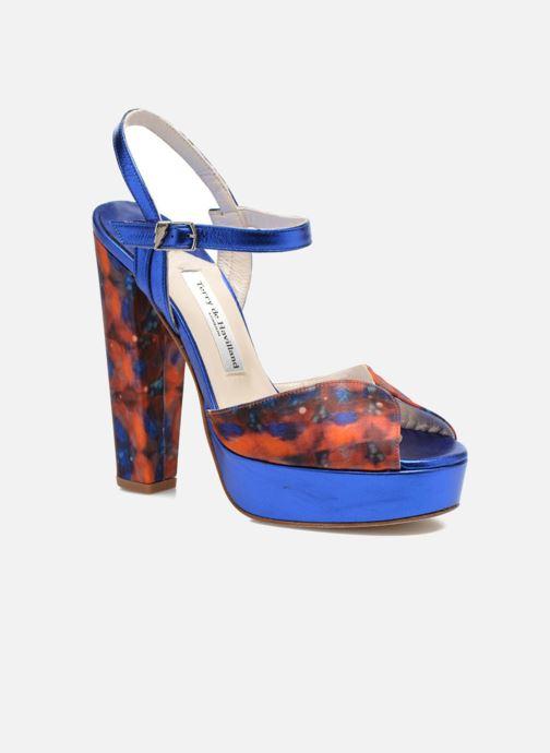 Sandales et nu-pieds Terry de Havilland Coco Bleu vue détail/paire