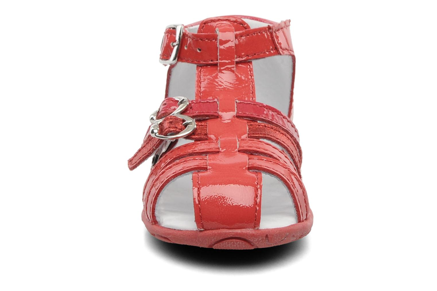 Sandals GBB Gentiane Red model view