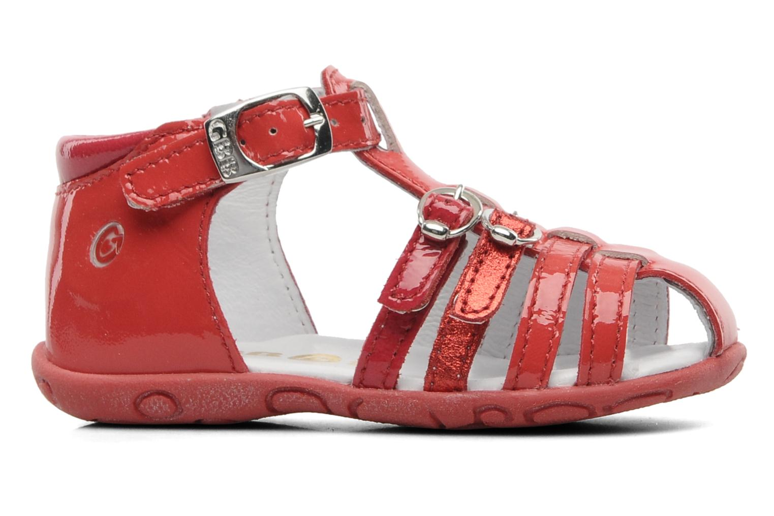 Sandals GBB Gentiane Red back view
