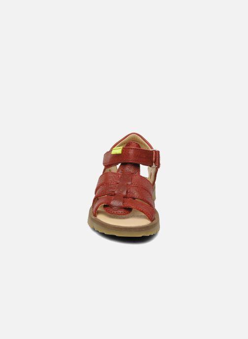 Sandales et nu-pieds GBB GREG Rouge vue portées chaussures