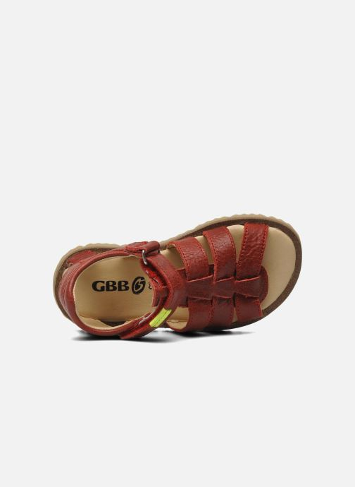 Sandales et nu-pieds GBB GREG Rouge vue gauche