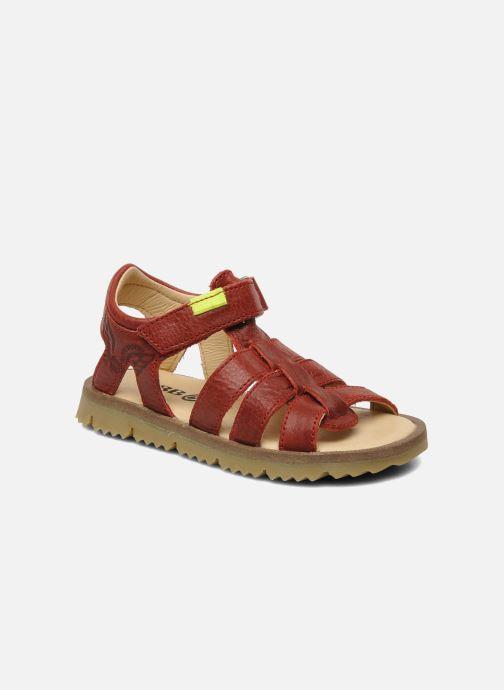 Sandales et nu-pieds GBB GREG Rouge vue détail/paire