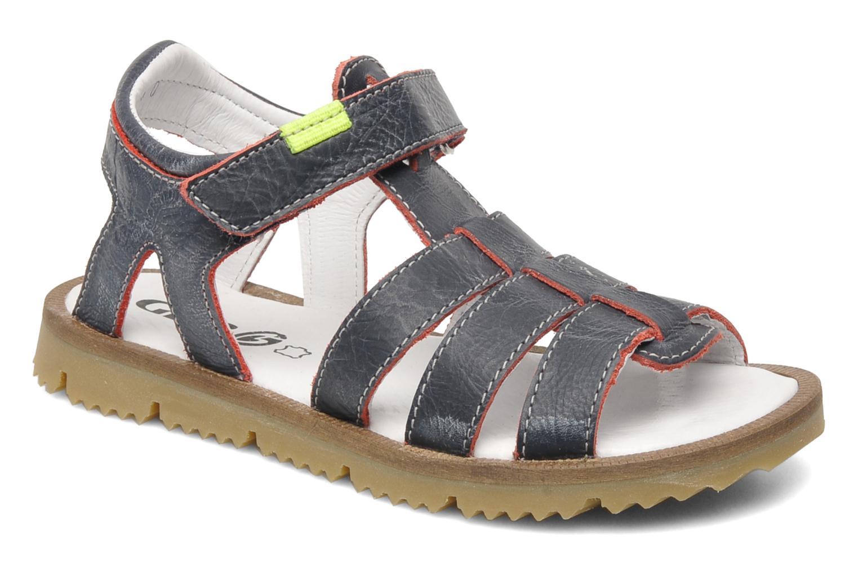 Sandales et nu-pieds GBB GREG Bleu vue détail/paire
