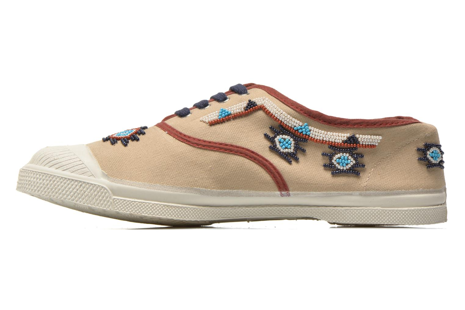 Baskets Bensimon Tennis Irokoa Beige vue face