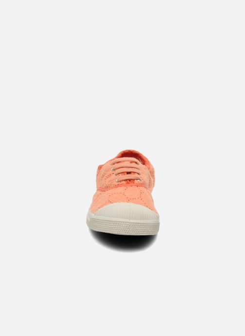 Trainers Bensimon Tennis Broderie Anglaise Orange model view
