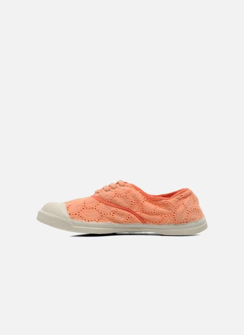 Trainers Bensimon Tennis Broderie Anglaise Orange front view