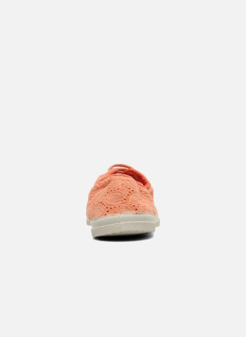Trainers Bensimon Tennis Broderie Anglaise Orange view from the right