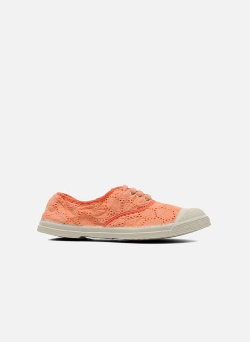 Trainers Bensimon Tennis Broderie Anglaise Orange back view