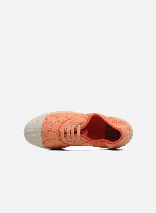 Trainers Bensimon Tennis Broderie Anglaise Orange view from the left