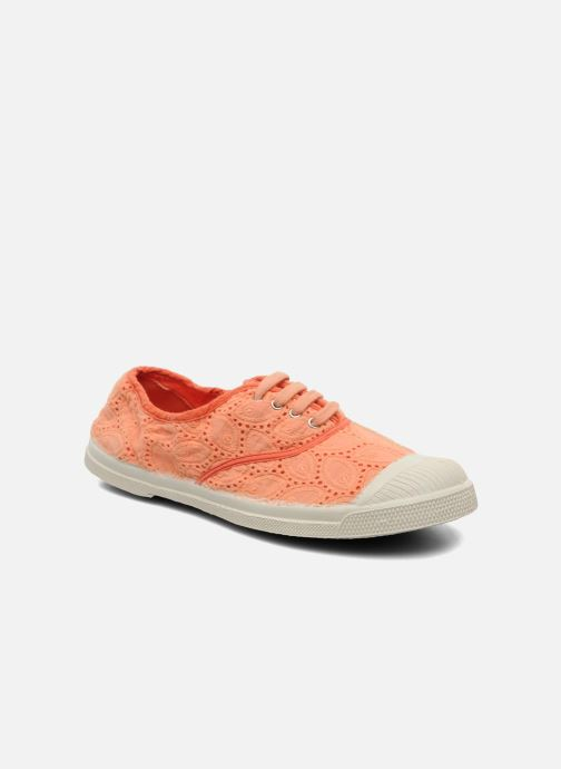 Trainers Bensimon Tennis Broderie Anglaise Orange detailed view/ Pair view