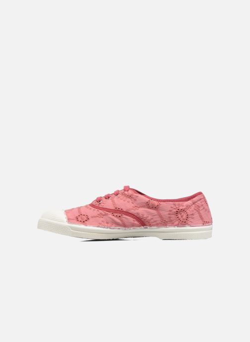Sneakers Bensimon Tennis Broderie Anglaise Rosa immagine frontale