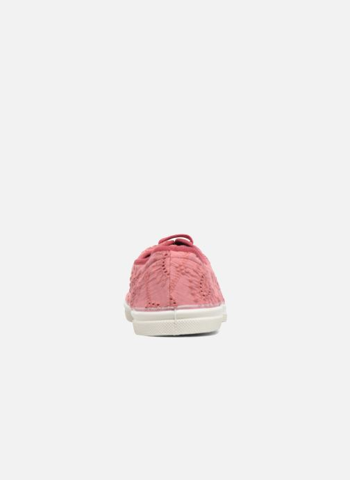 Sneakers Bensimon Tennis Broderie Anglaise Rosa immagine destra