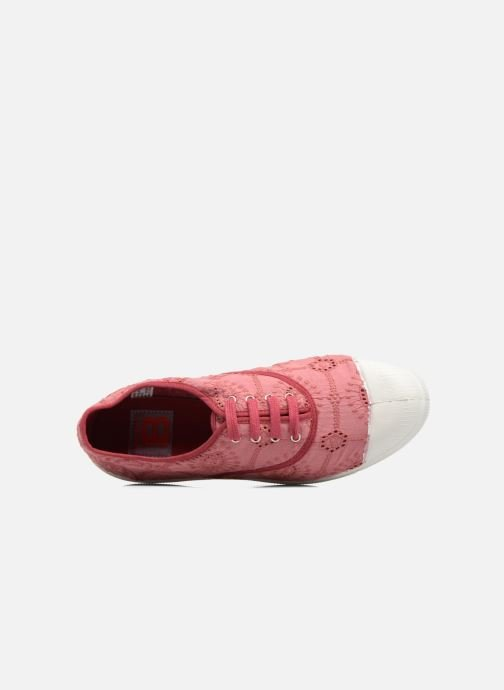 Sneakers Bensimon Tennis Broderie Anglaise Rosa immagine sinistra