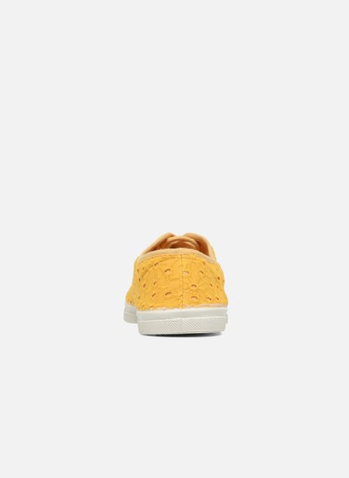 Baskets Bensimon Tennis Broderie Anglaise Jaune vue droite
