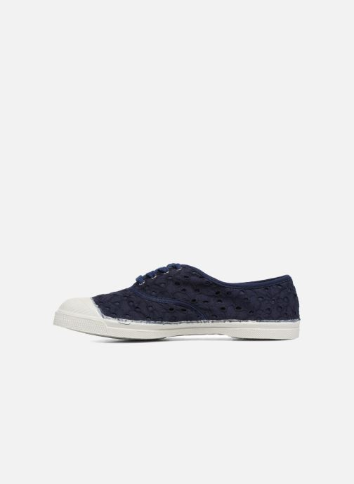 Sneakers Bensimon Tennis Broderie Anglaise Azzurro immagine frontale