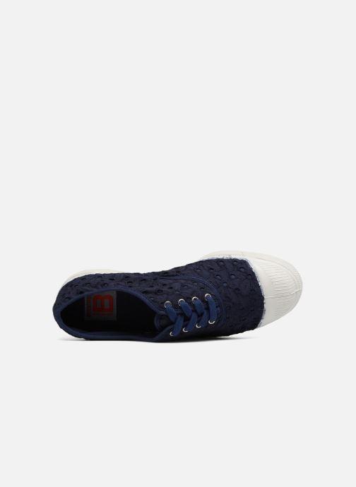 Sneakers Bensimon Tennis Broderie Anglaise Blauw links