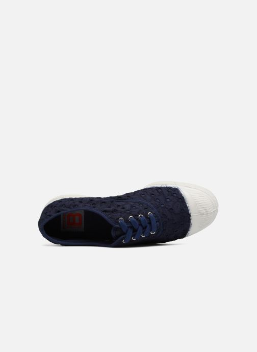 Sneakers Bensimon Tennis Broderie Anglaise Azzurro immagine sinistra