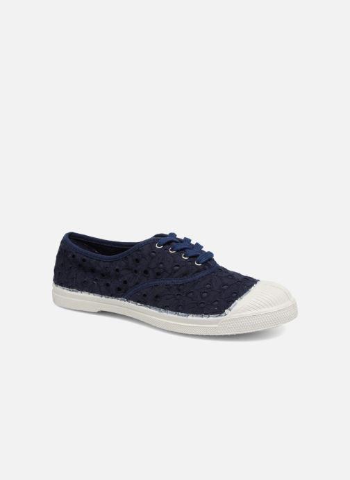 Sneakers Bensimon Tennis Broderie Anglaise Blauw detail