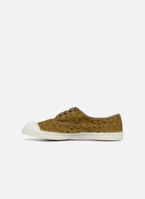Trainers Bensimon Tennis Broderie Anglaise Green front view