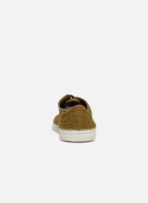 Trainers Bensimon Tennis Broderie Anglaise Green view from the right