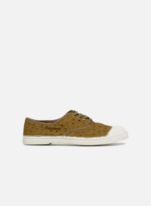 Trainers Bensimon Tennis Broderie Anglaise Green back view