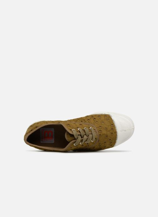 Trainers Bensimon Tennis Broderie Anglaise Green view from the left