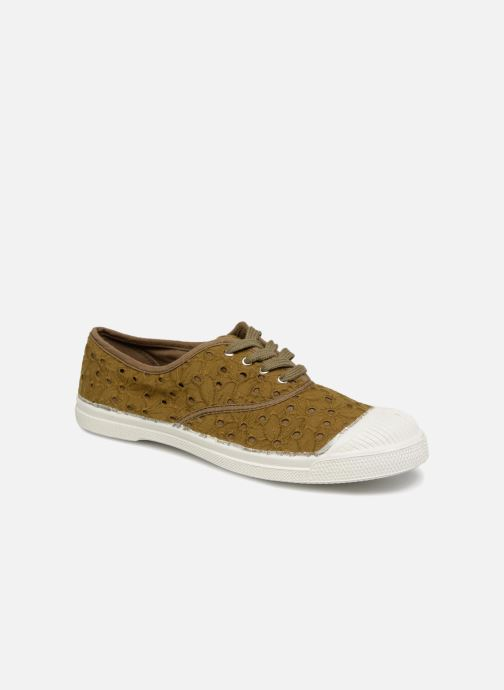 Trainers Bensimon Tennis Broderie Anglaise Green detailed view/ Pair view
