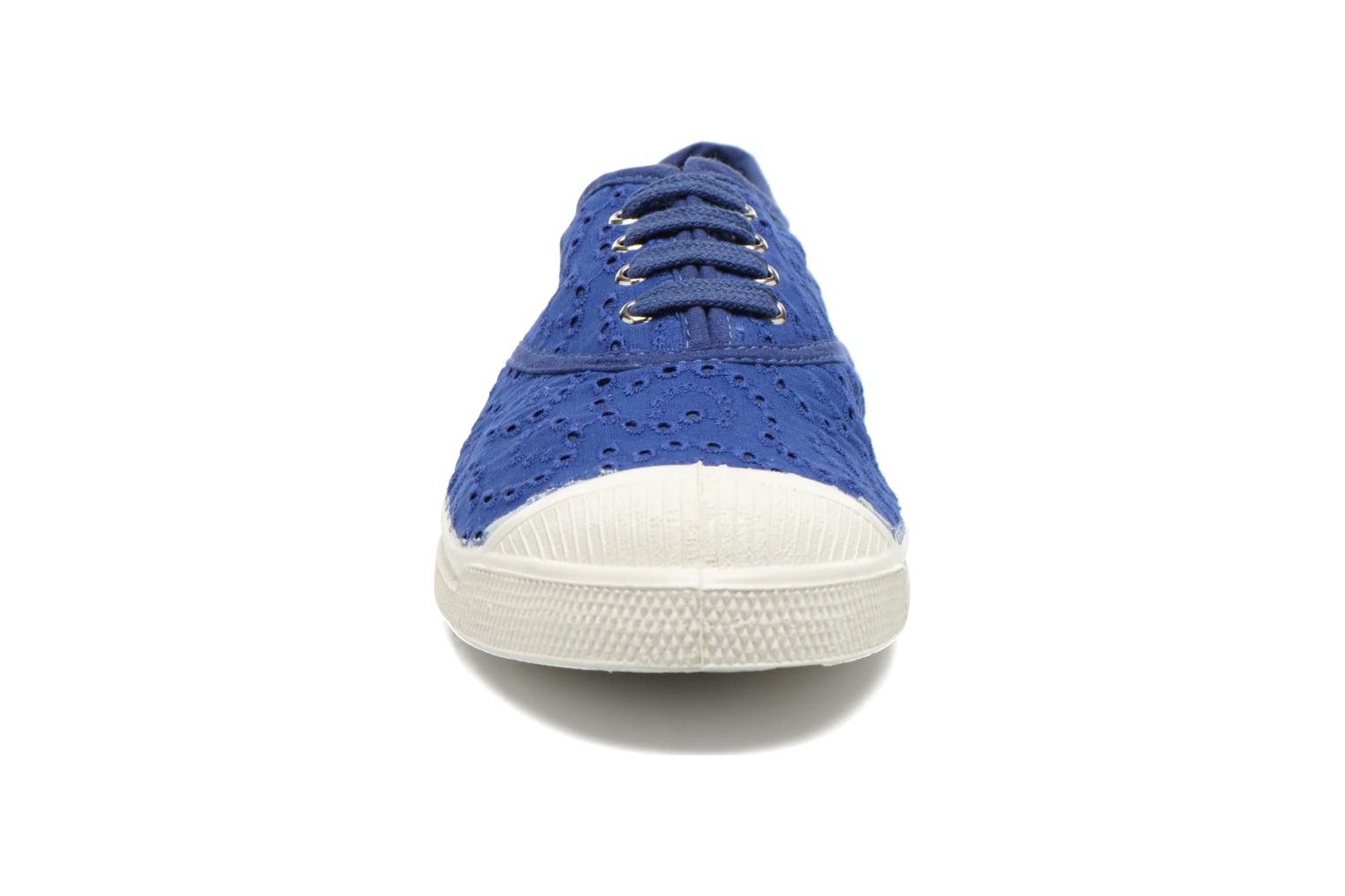 Trainers Bensimon Tennis Broderie Anglaise Blue model view