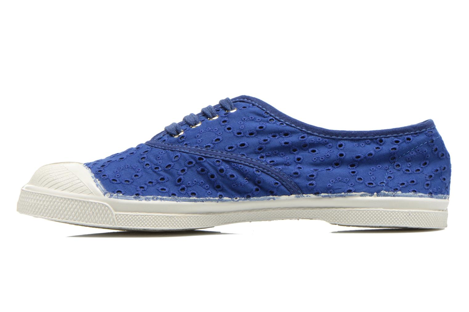 Trainers Bensimon Tennis Broderie Anglaise Blue front view