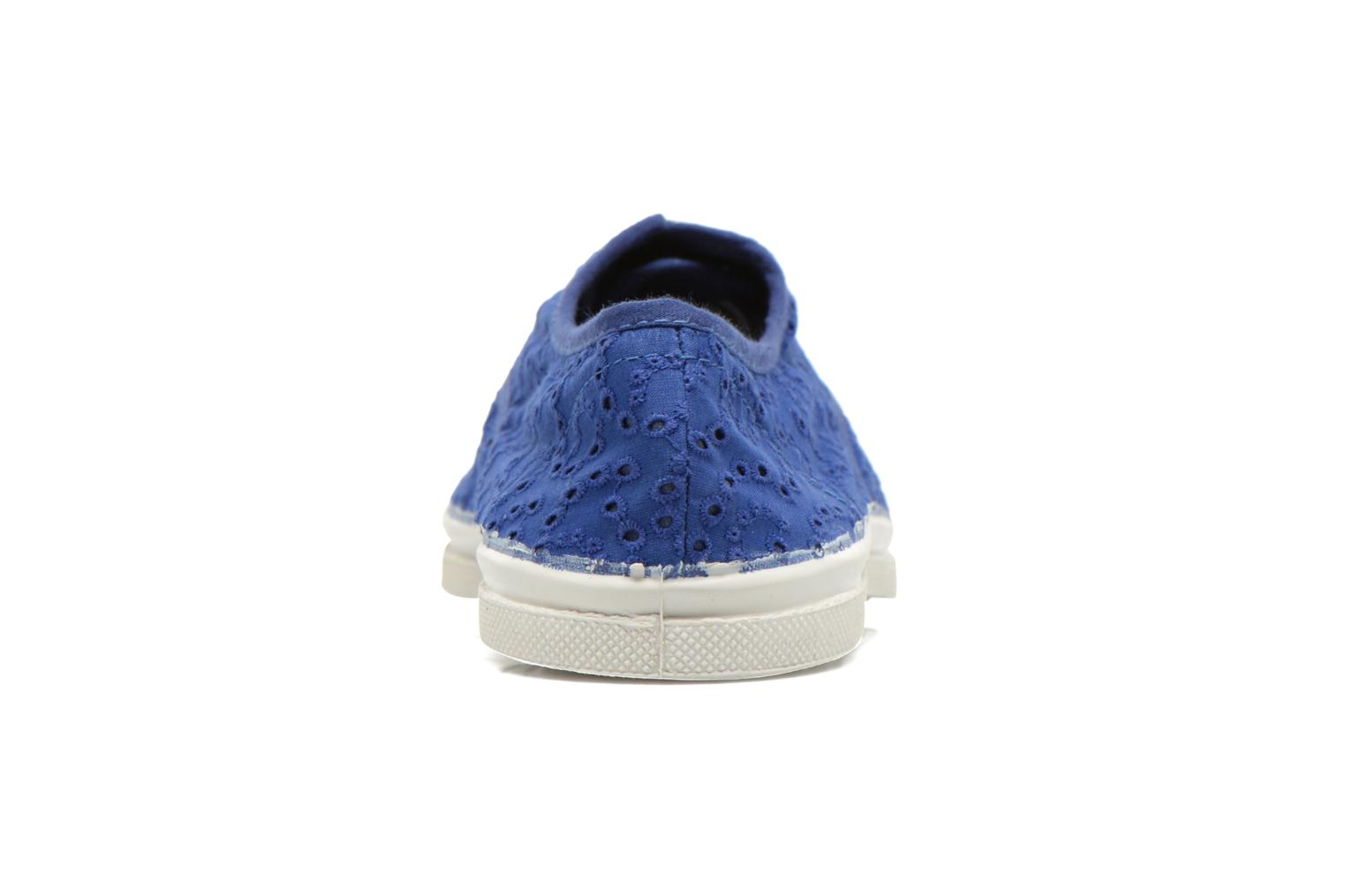 Trainers Bensimon Tennis Broderie Anglaise Blue view from the right