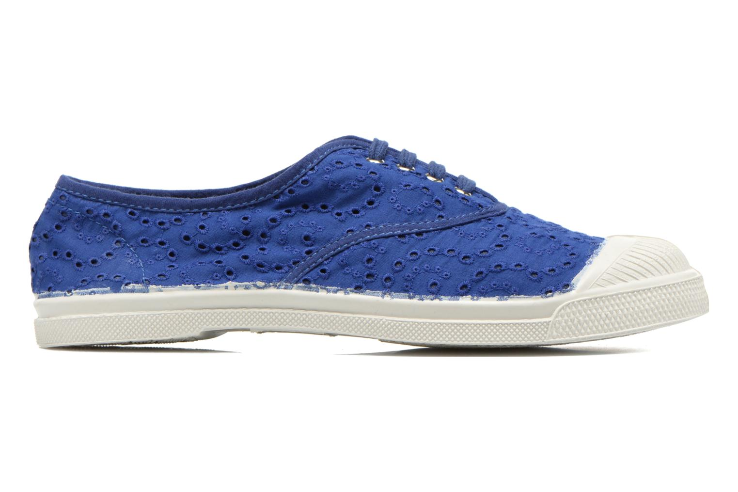Trainers Bensimon Tennis Broderie Anglaise Blue back view